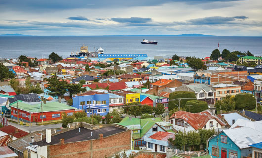 Darwin Route From Punta Arenas