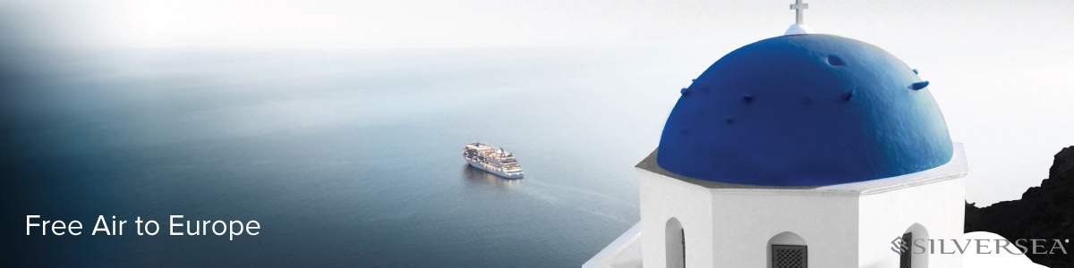 Free Air to Europe with Silversea