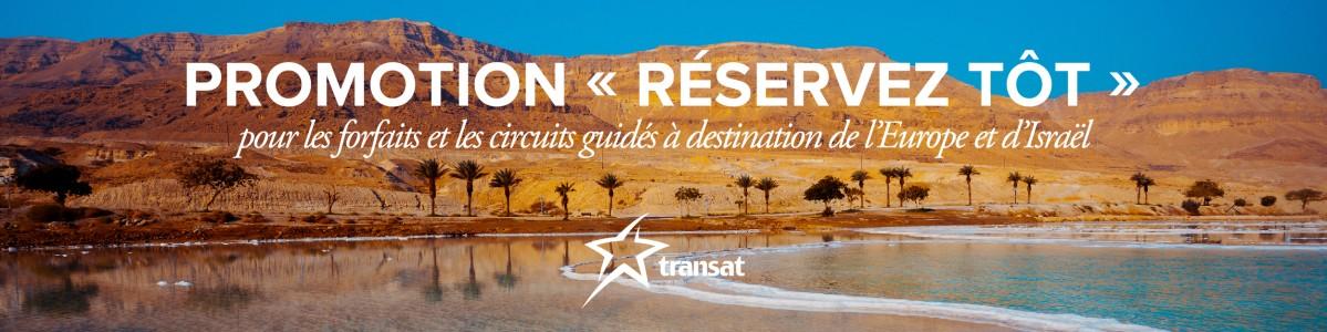 Explorez l'Europe et Israël cet été grâce à la promotion « Réservez tôt » de Transat