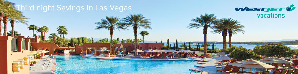 Third night Savings in Las Vegas with WestJet Vacations