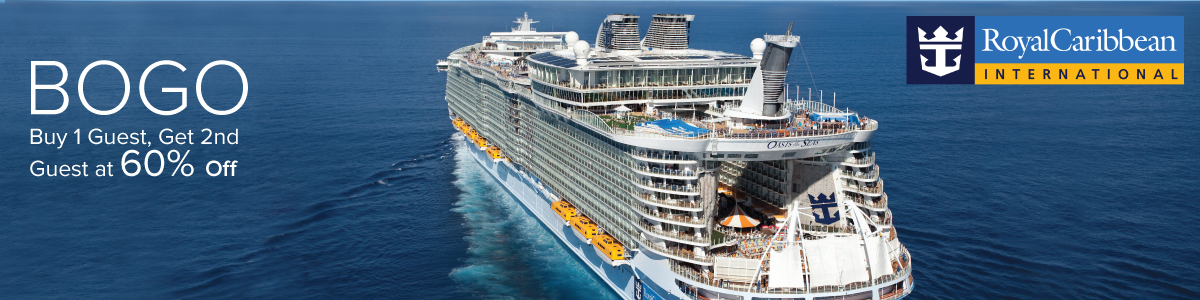 60 Percent off Second Guest with Royal Caribbean
