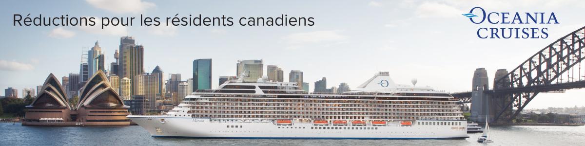 Réductions sur les croisières Oceania Cruises pour les résidents canadiens